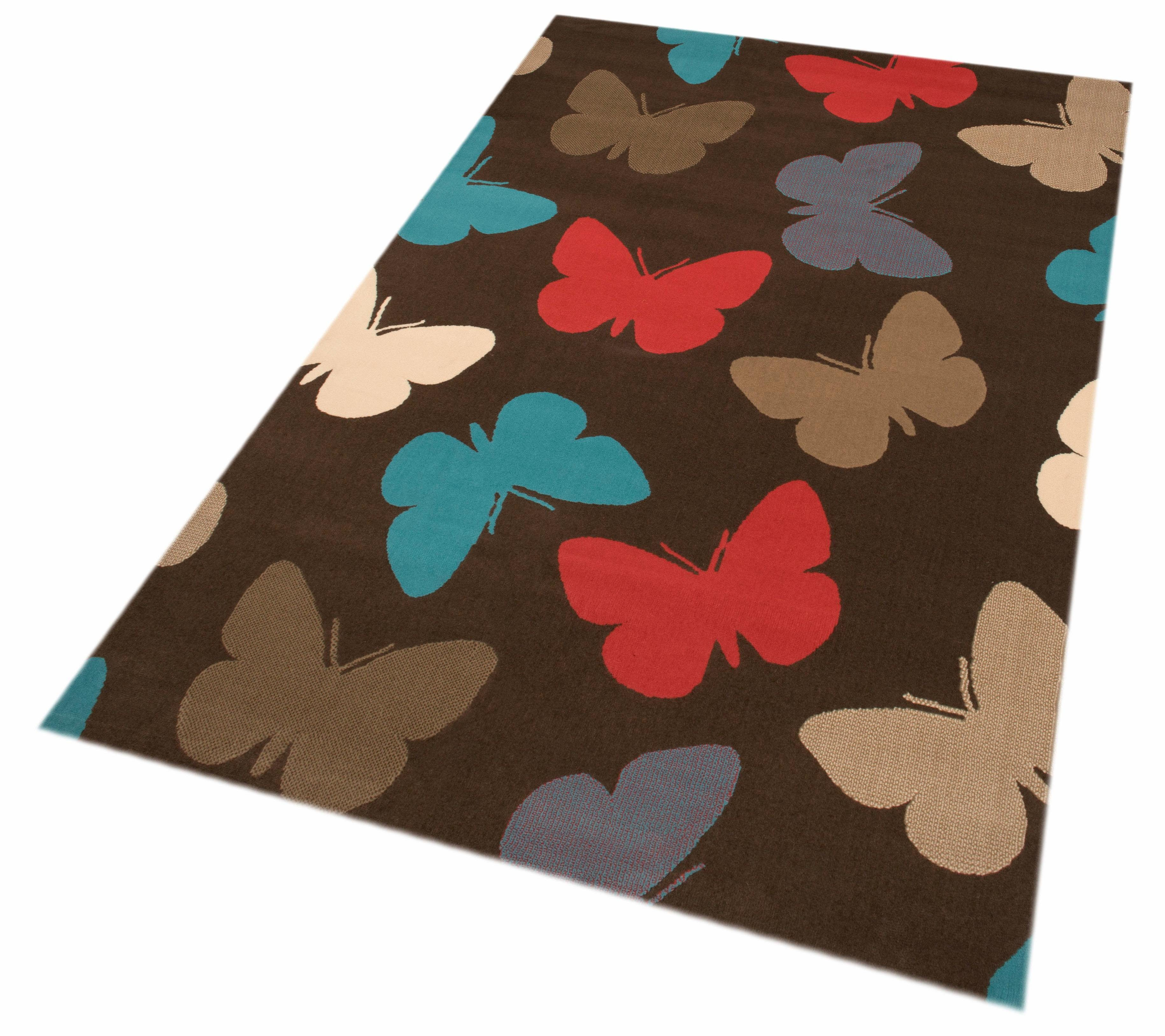 Kinderteppich »Schmetterlinge«, Zala Living, rechteckig, Höhe 9 mm