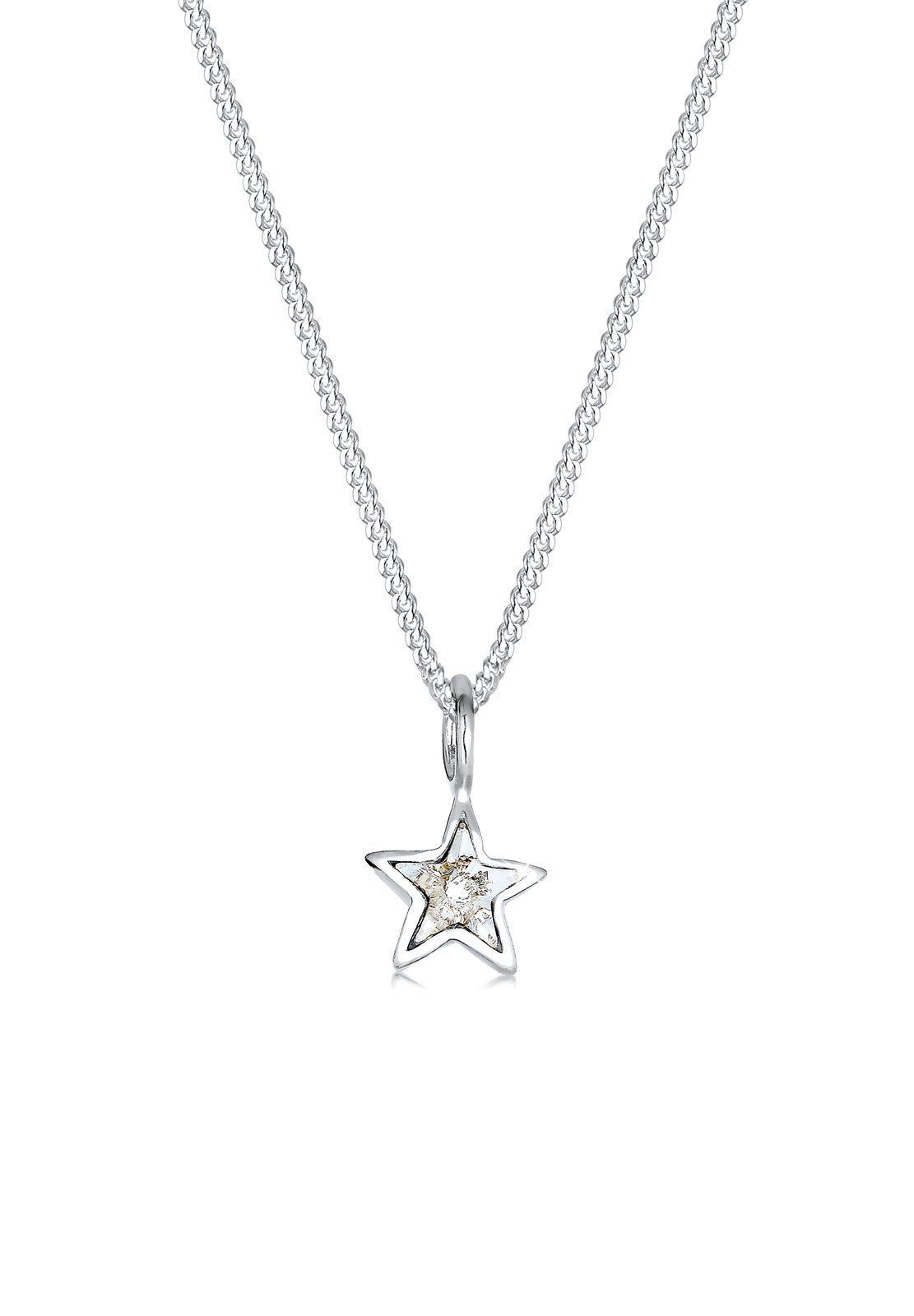 Elli Halskette »Stern Astro Swarovski® Kristalle 925 Silber«