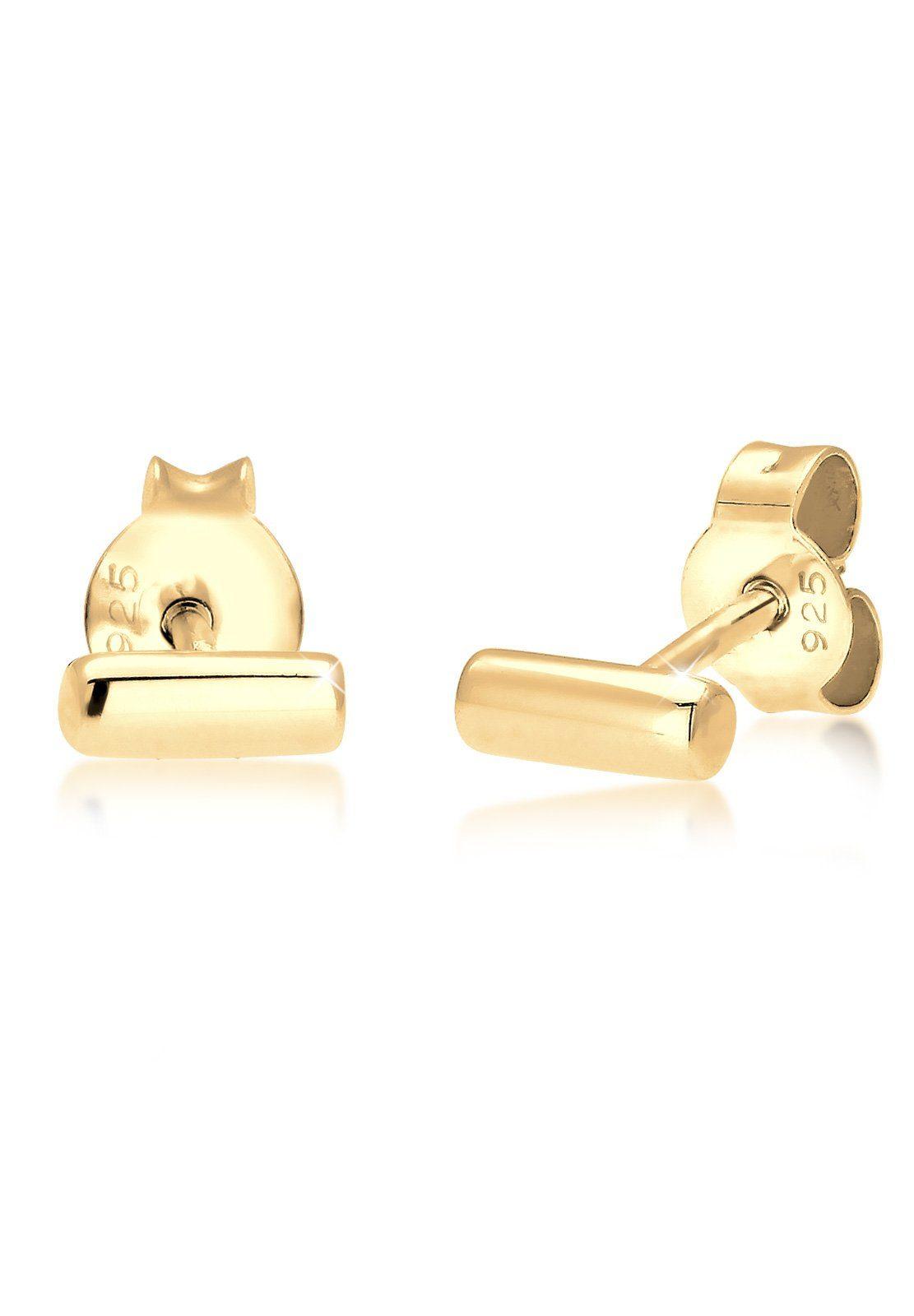 Elli Ohrringe »Stab Basic Geo Minimal 925 Silber vergoldet«