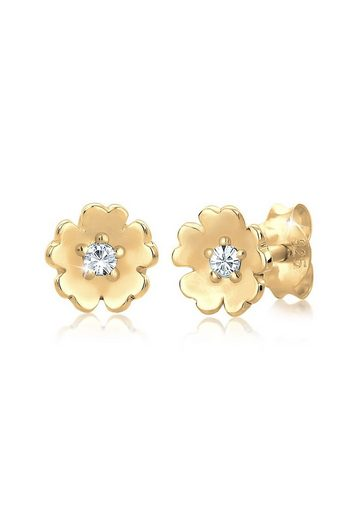 Elli Ohrringe »Blume Garten Swarovski® Kristalle 925 Silber«
