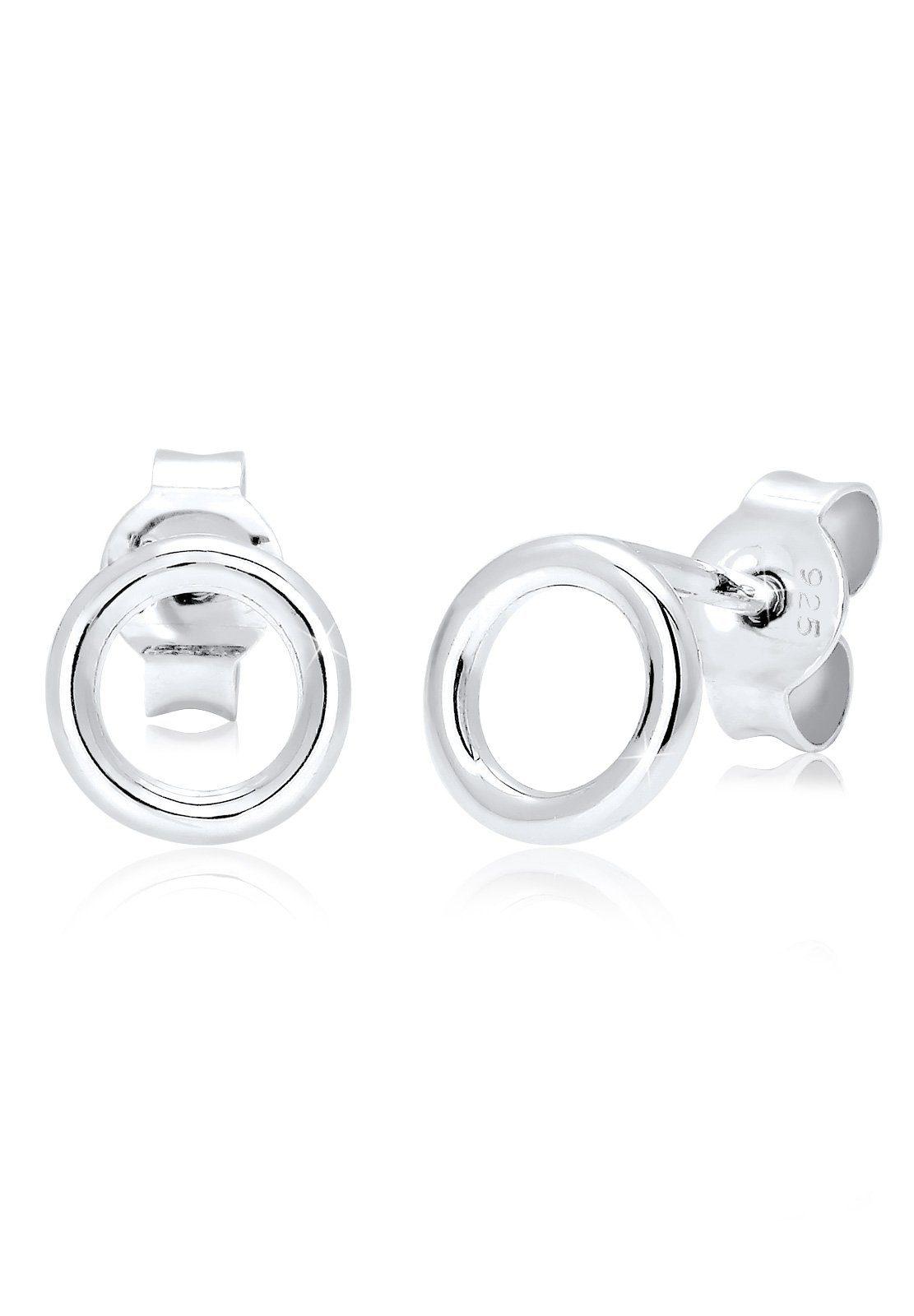 Elli Ohrringe »Basic Kreis Geo Minimal Filigran 925 Silber«
