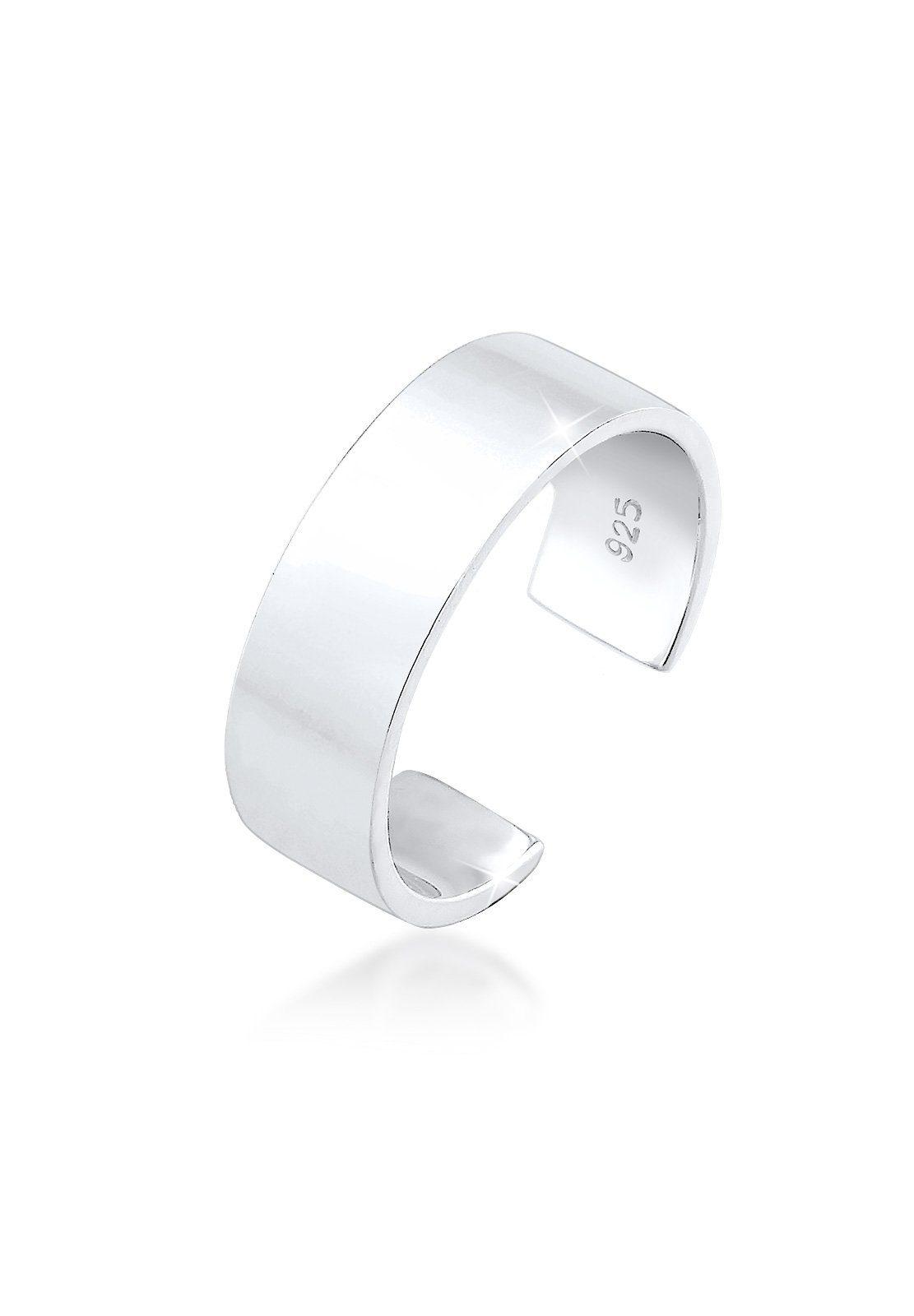 Elli Ring »MIDI Geo Minimal Trend Basic 925 Silber«