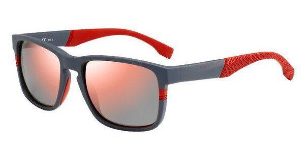 Boss Herren Sonnenbrille » BOSS 0916/S«, grau, 1XA/7H - grau/rot
