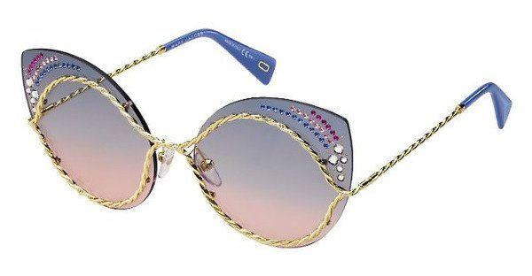 MARC JACOBS Marc Jacobs Damen Sonnenbrille » MARC 161/S/STR«, blau, BR0/I4 - blau/ orange