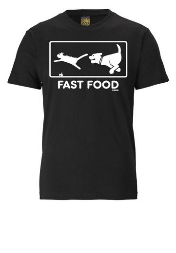 LOGOSHIRT Herrenshirt FAST FOOD
