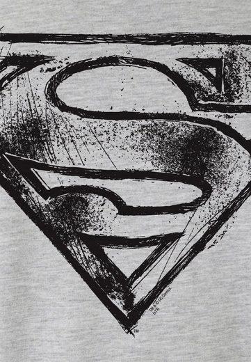 LOGOSHIRT Herrenshirt SUPERMAN - LOGO SCRIBBLE