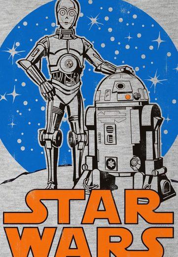 Logoshirt Herrenshirt Mit Coolem Print R2-d2 & C-3po Star Wars