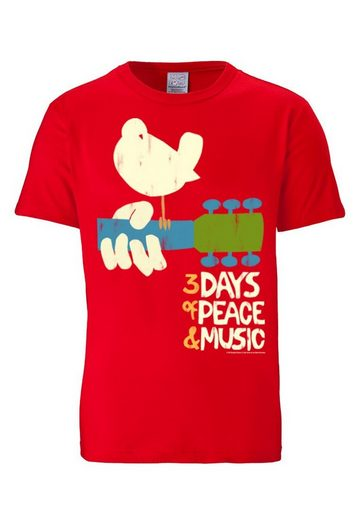 LOGOSHIRT Herrenshirt Woodstock - 3 Days Of Peace and Music