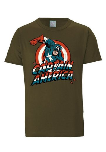 LOGOSHIRT Herrenshirt Captain America Logo