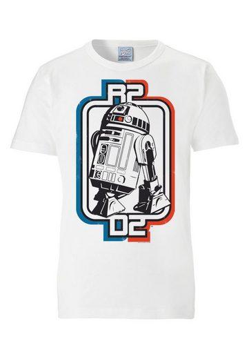 LOGOSHIRT Herrenshirt mit coolem Motiv R2D2 - Krieg der Sterne
