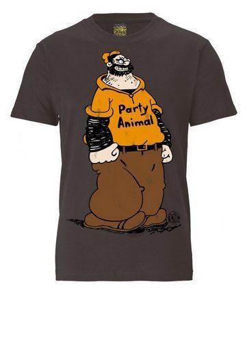 LOGOSHIRT Herrenshirt POPEYE - PARTY - ANIMAL