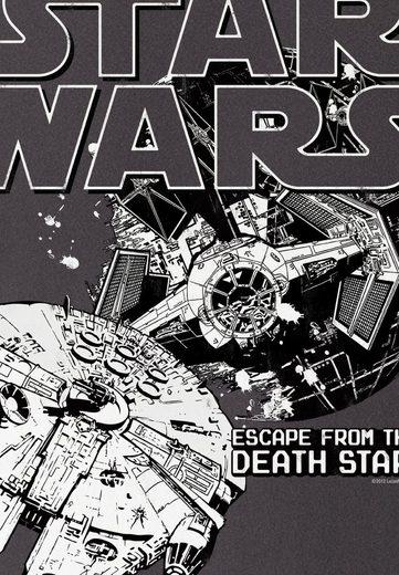 LOGOSHIRT Herrenshirt Krieg der Sterne - Todesstern