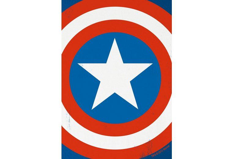Freies Verschiffen Neuestes Freies Verschiffen Fälschung LOGOSHIRT Herrenshirt Captain America Rabatt Billig Erschwinglicher Verkauf Online Spielraum Sast Ro9Yy13tMD