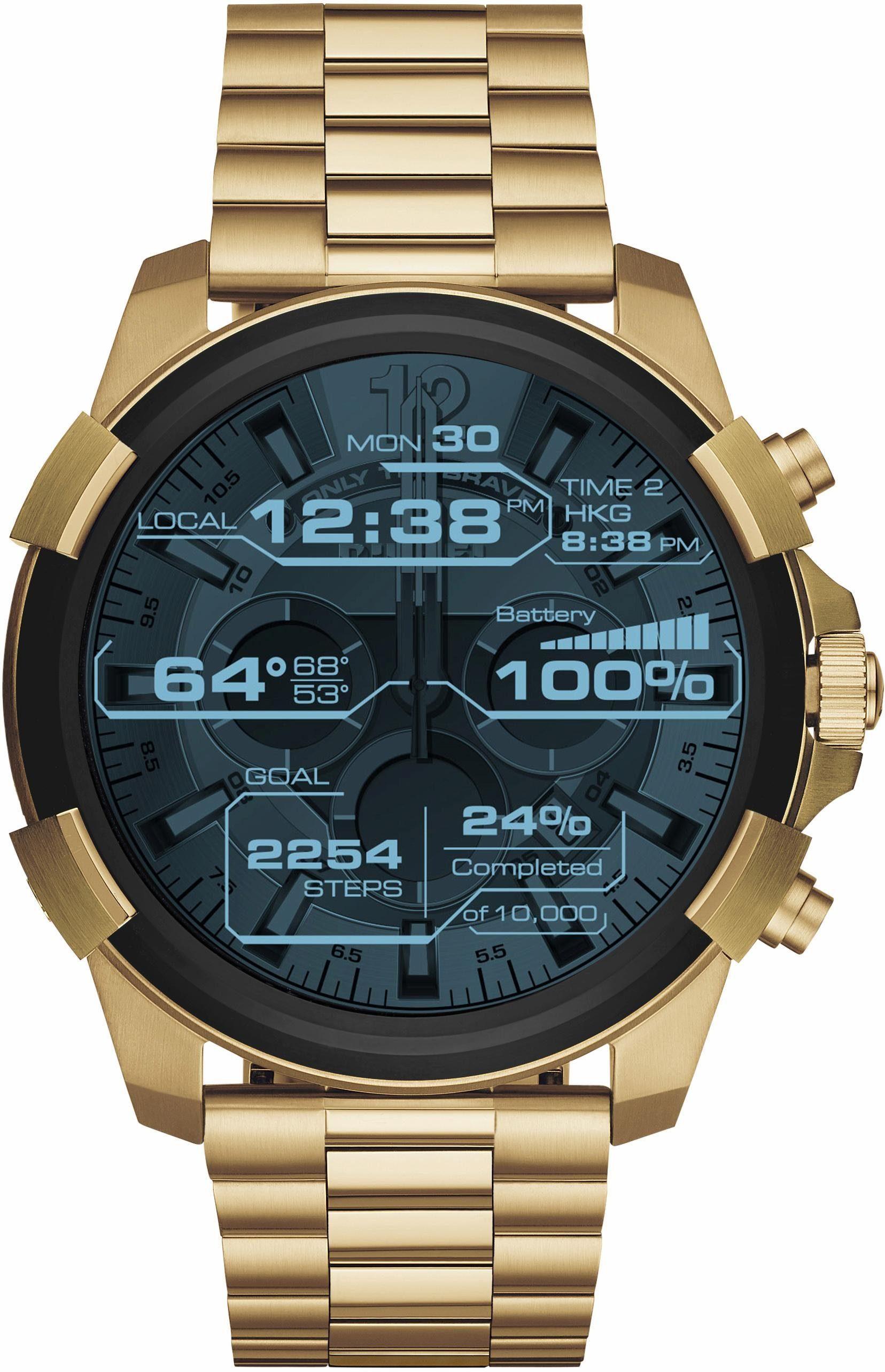 DIESEL ON FULL GUARD, DZT2005 Smartwatch (Android Wear, mit individuell einstellbarem Zifferblatt)