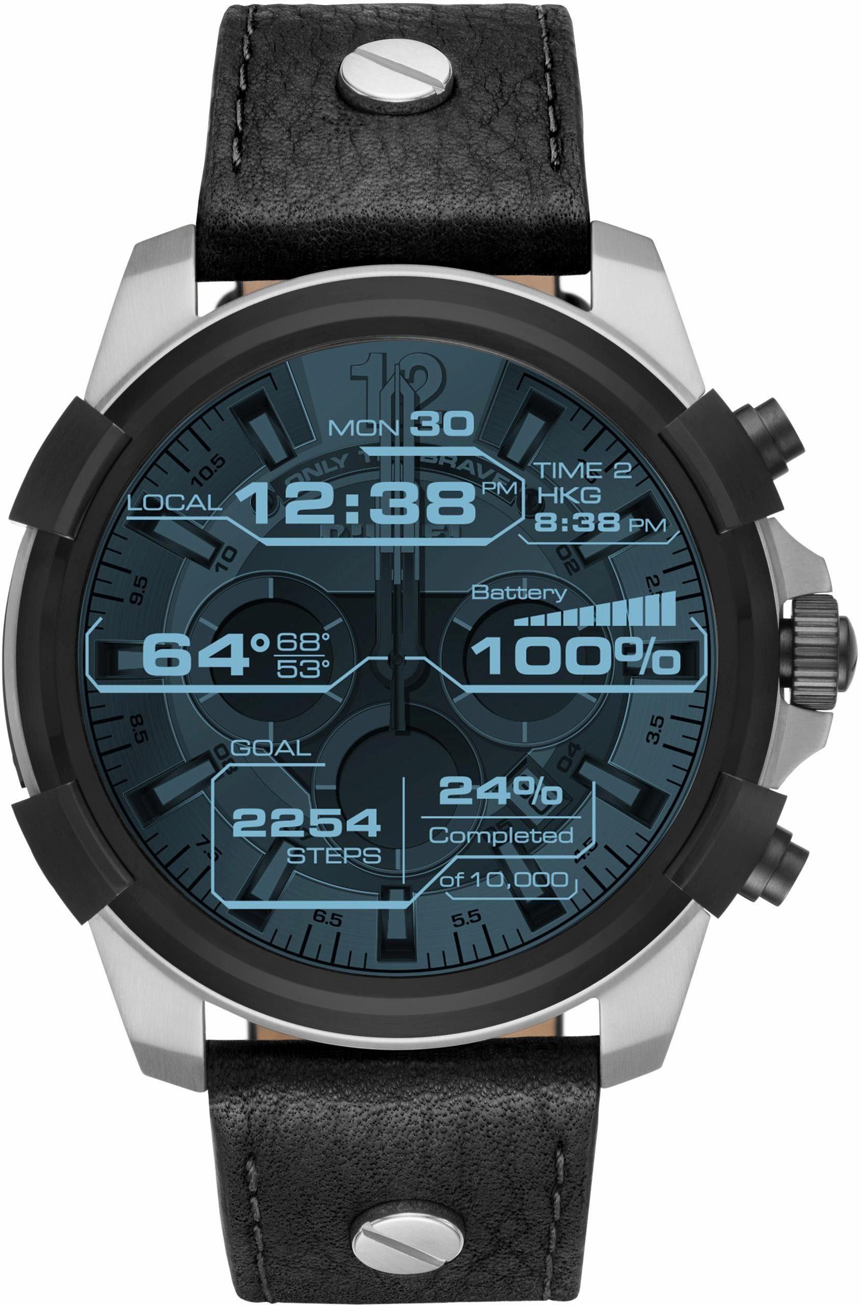 DIESEL ON FULL GUARD, DZT2001 Smartwatch (Android Wear, mit individuell einstellbarem Zifferblatt)