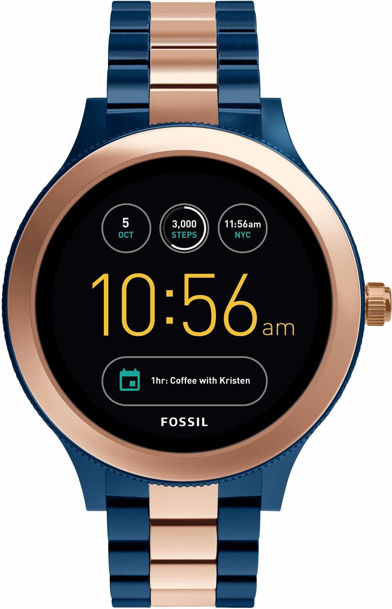 FOSSIL Q Q VENTURE, FTW6002 Smartwatch (Android Wear, mit individuell einstellbarem Zifferblatt)