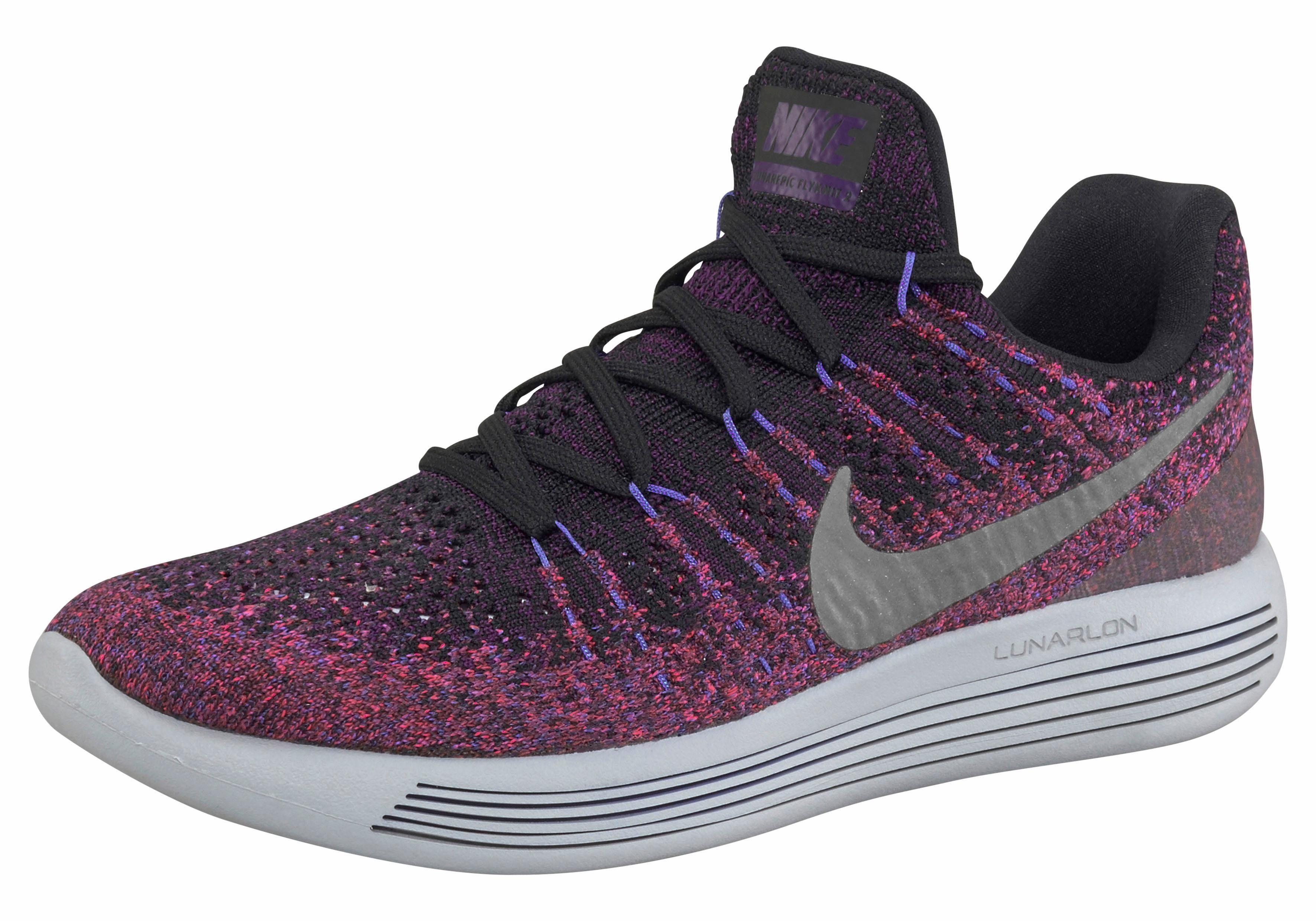 Nike Wmns Lunarepic Low Flyknit 2 Laufschuh  schwarz-pink