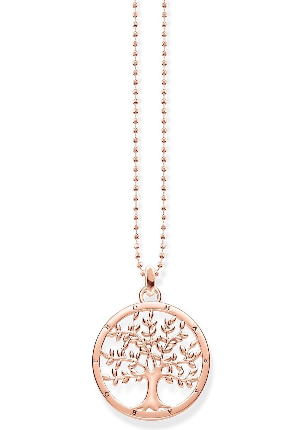 THOMAS SABO Kette mit Anhänger »Tree of Love, KE1660-415-40-L45v«