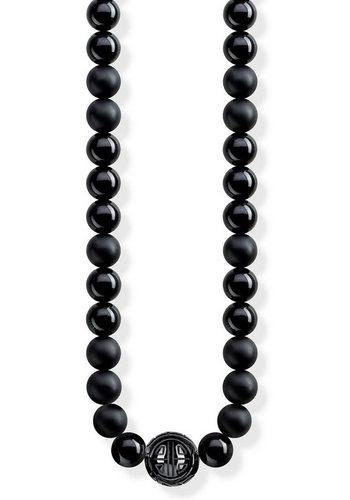 Herren THOMAS SABO Kette mit Anhänger Power NecklaceKE1674-704-11-L100 mit Obsidian schwarz | 04051245315431