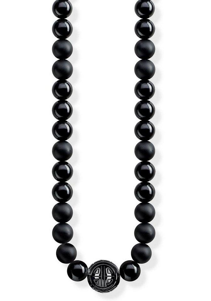 thomas sabo kette mit anh nger power necklace schwarz. Black Bedroom Furniture Sets. Home Design Ideas