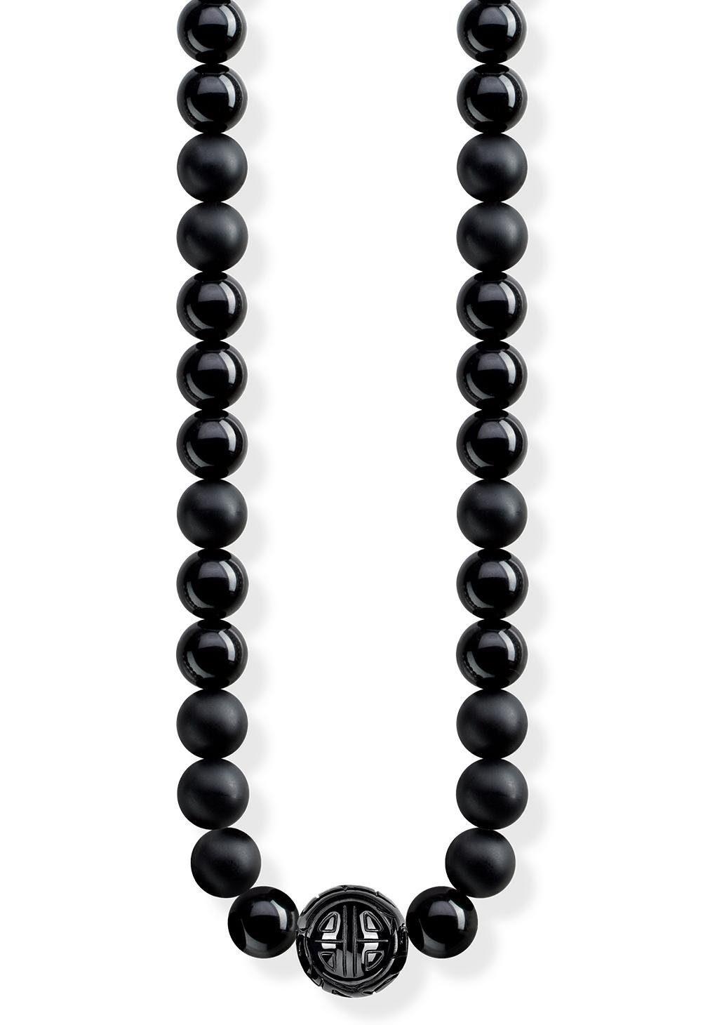 THOMAS SABO Kette mit Anhänger »Power Necklace Schwarz, KE1674-704-11-L100« mit Obsidian
