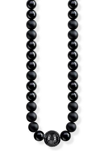 THOMAS SABO Kette mit Anhänger »Power Necklace Schwarz, KE1674-704-11-L100«, mit Obsidian