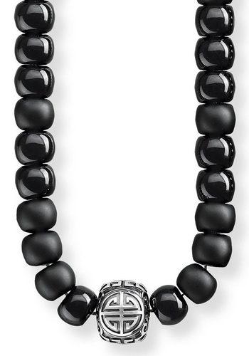 Herren THOMAS SABO Kette mit Anhänger Power Necklace EthnoKE1710-704-11-L80 mit Obsidian schwarz | 04051245315608