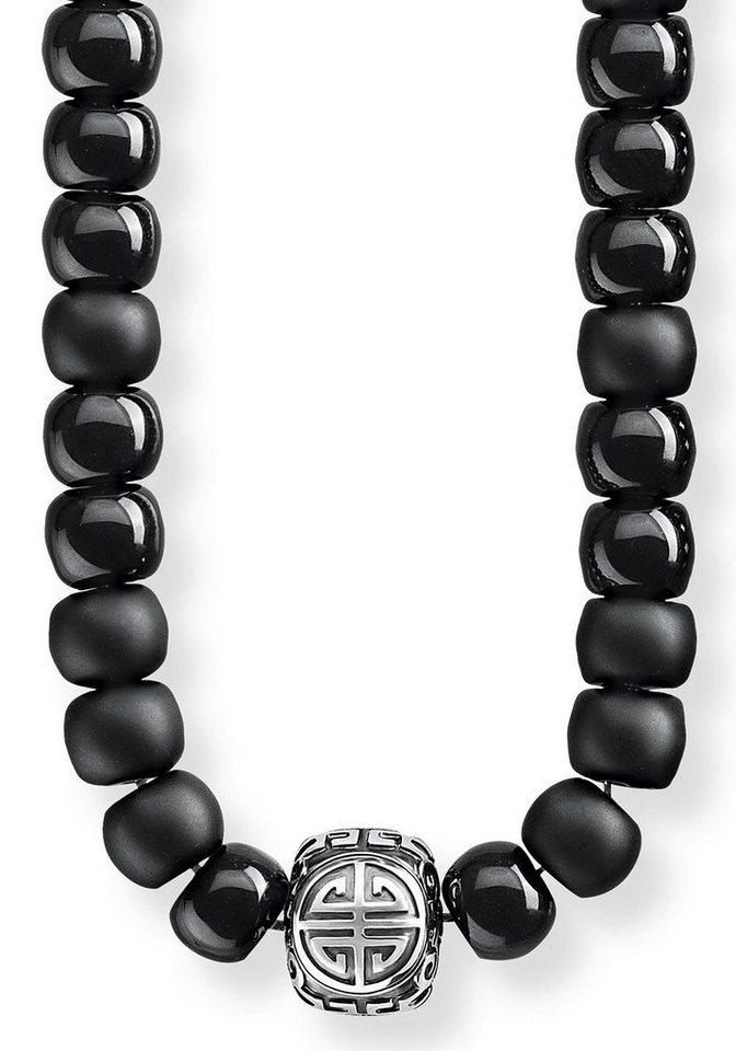 Wählen Sie für späteste super service damen THOMAS SABO Kette mit Anhänger »Power Necklace Ethno Schwarz,  KE1710-704-11-L80« mit Obsidian online kaufen | OTTO
