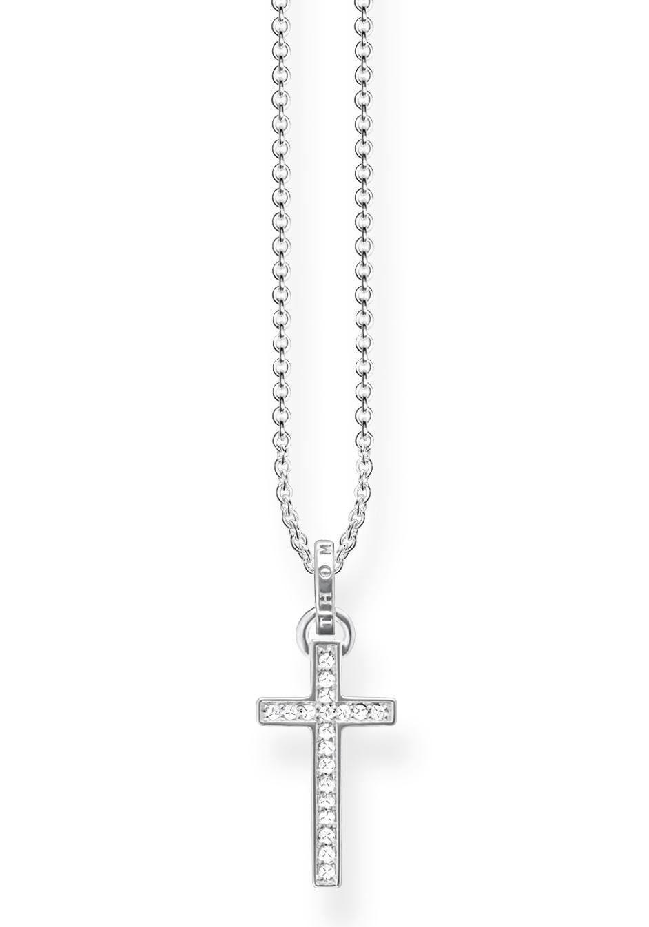 THOMAS SABO Kette mit Anhänger »Kreuz, KE1653-051-14-L45v« mit Zirkonia