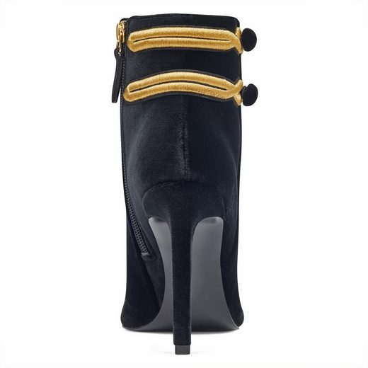 Nine West High-Heel-Stiefelette, mit trendigen Bordüren