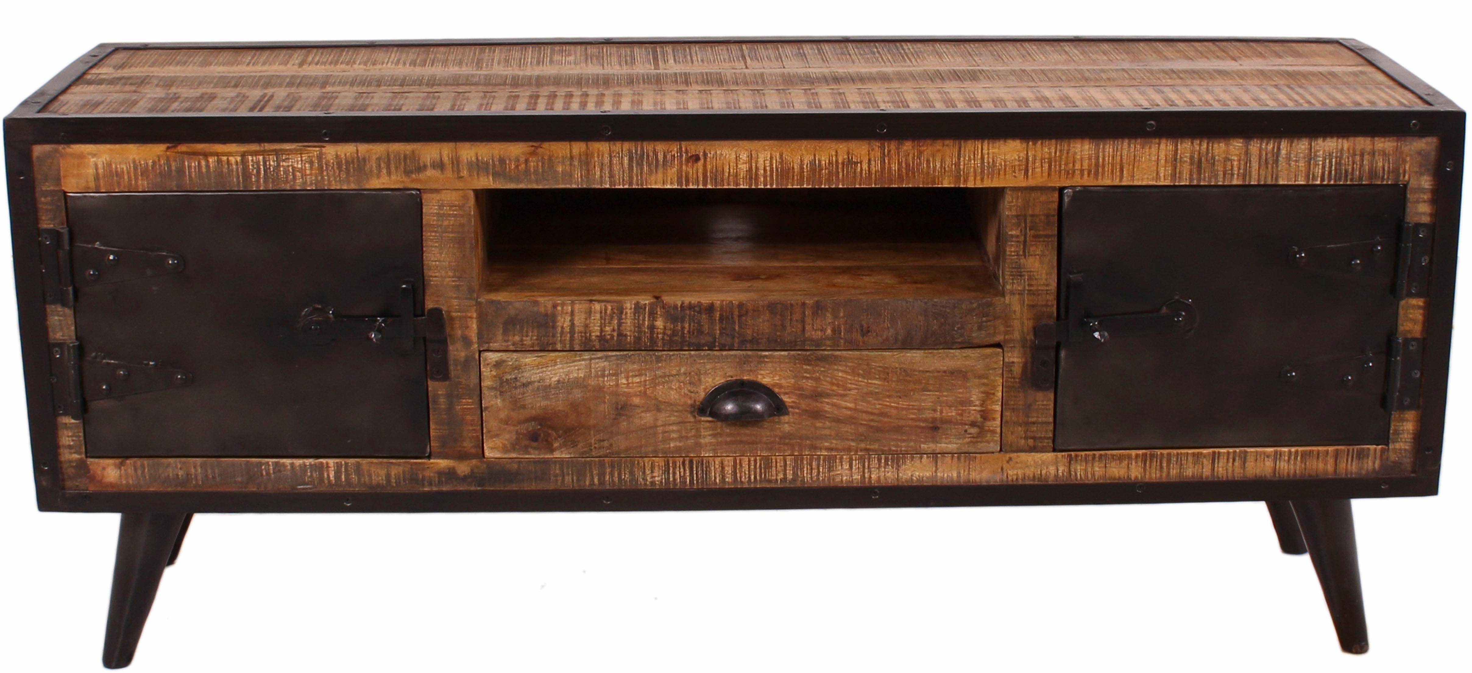 SIT Lowboard »Iron«, Mangoholz mit Schmiedeeisen, Breite 140 cm