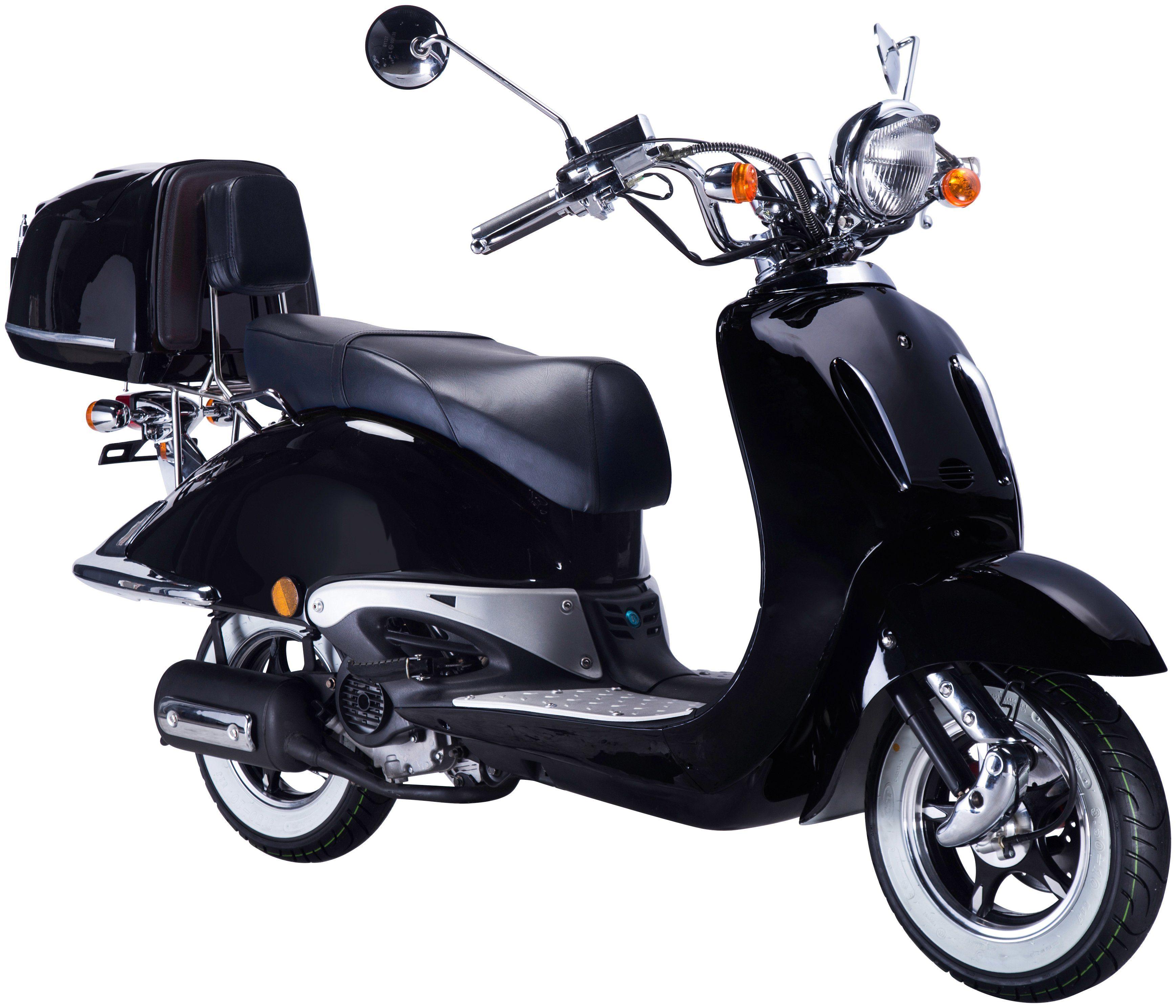 GT UNION Motorroller »Strada«, 50 ccm, schwarz-schwarz