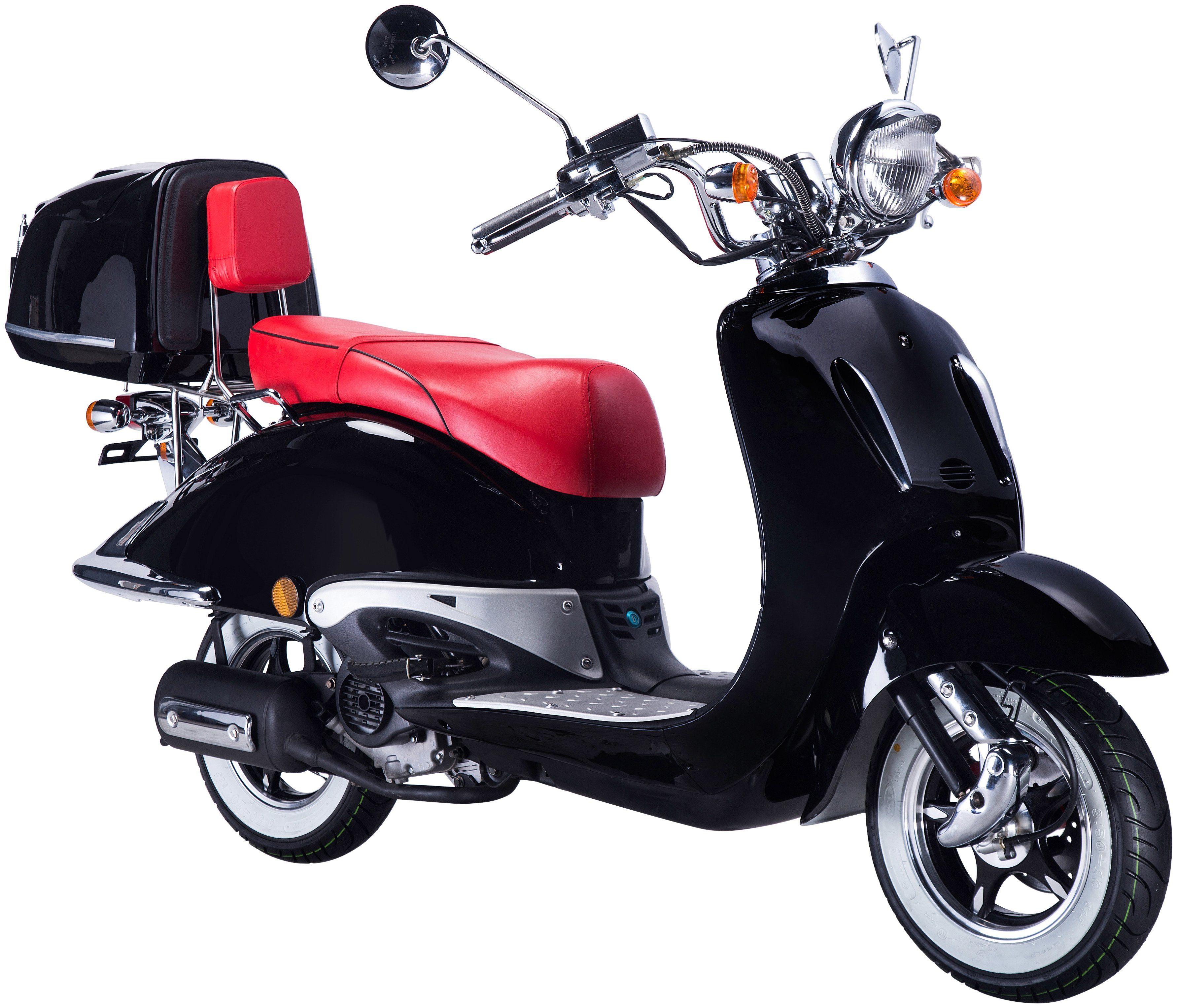 GT UNION Motorroller »Strada«, 50 ccm, schwarz-rot
