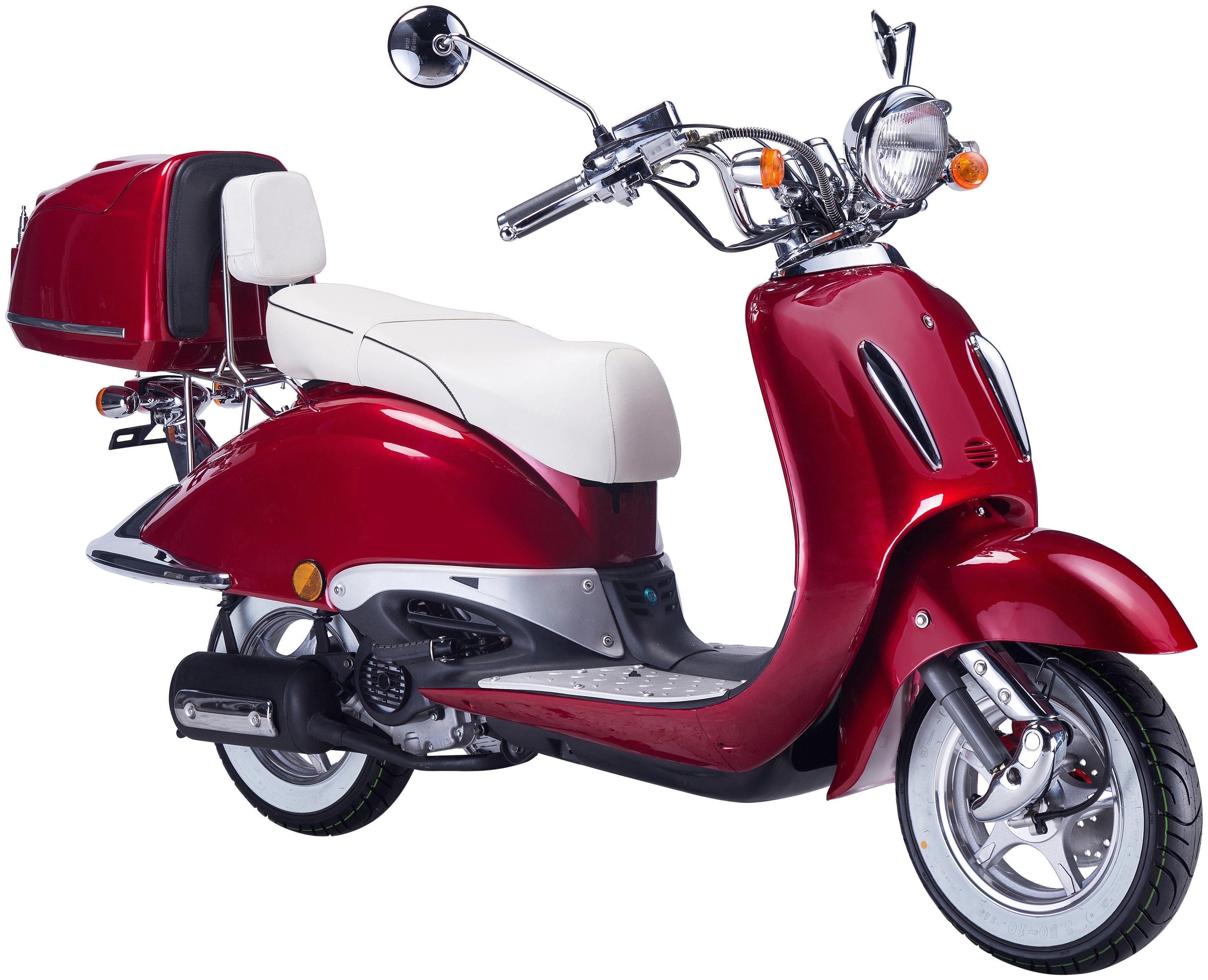 GT UNION Motorroller »Strada«, 50 ccm, rot-weiß