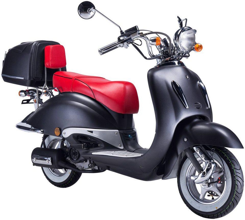 gt union motorroller strada 50 ccm mattschwarz rot. Black Bedroom Furniture Sets. Home Design Ideas