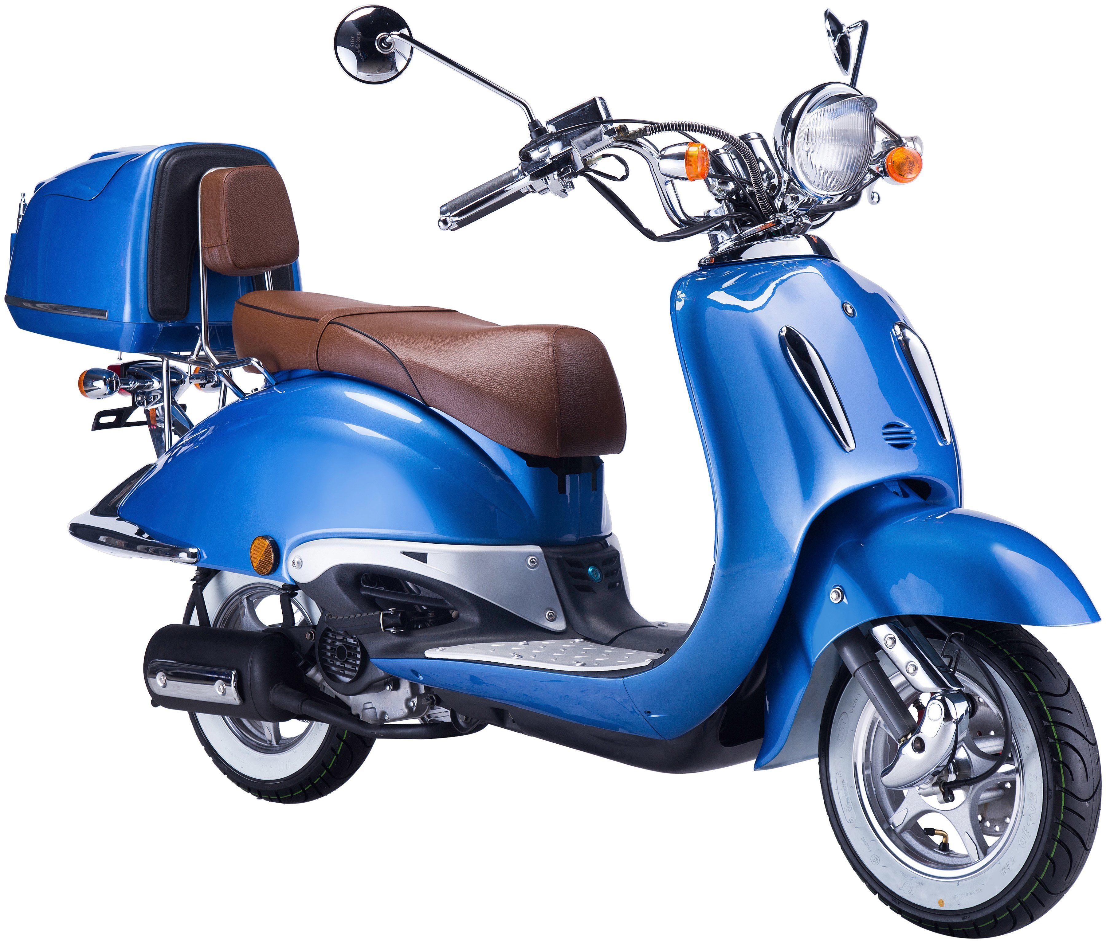 GT UNION Mofa »Strada«, 50 ccm, 25km/h, blau-braun