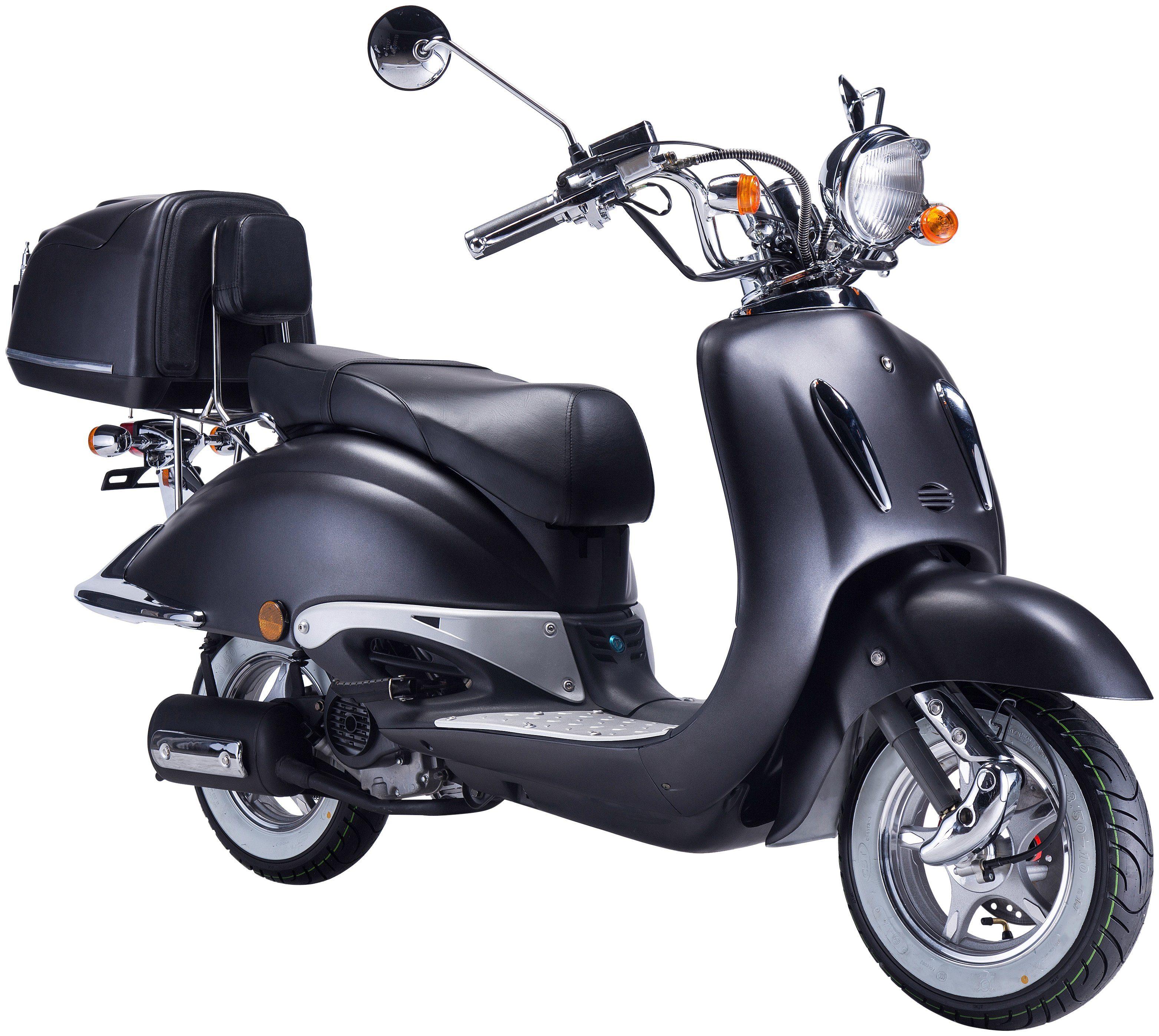 GT UNION Motorroller »Strada«, 50 ccm, mattschwarz-schwarz