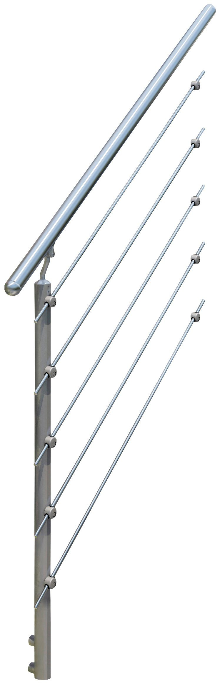 DOLLE Geländersystem »Gardentop Set 5«, Erweiterungsset, 1 Pfosten und Handlauf