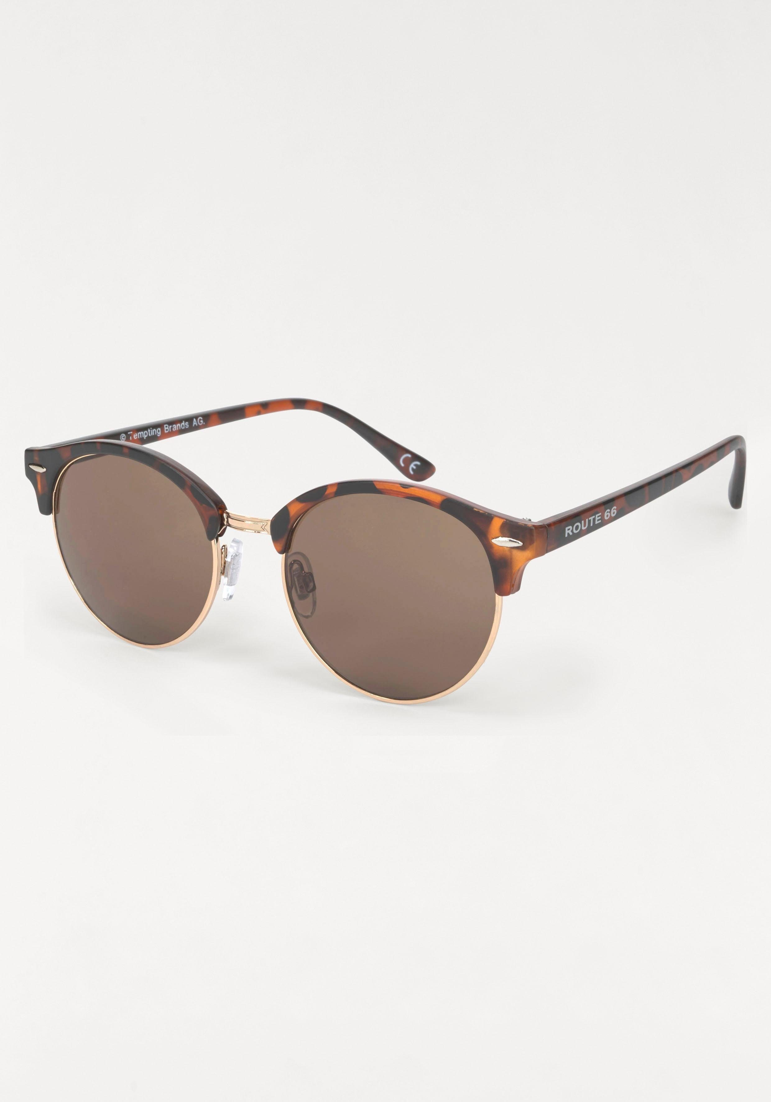 ROUTE 66 Feel the Freedom Eyewear Sonnenbrille im Animal Look, Clubmaster Style