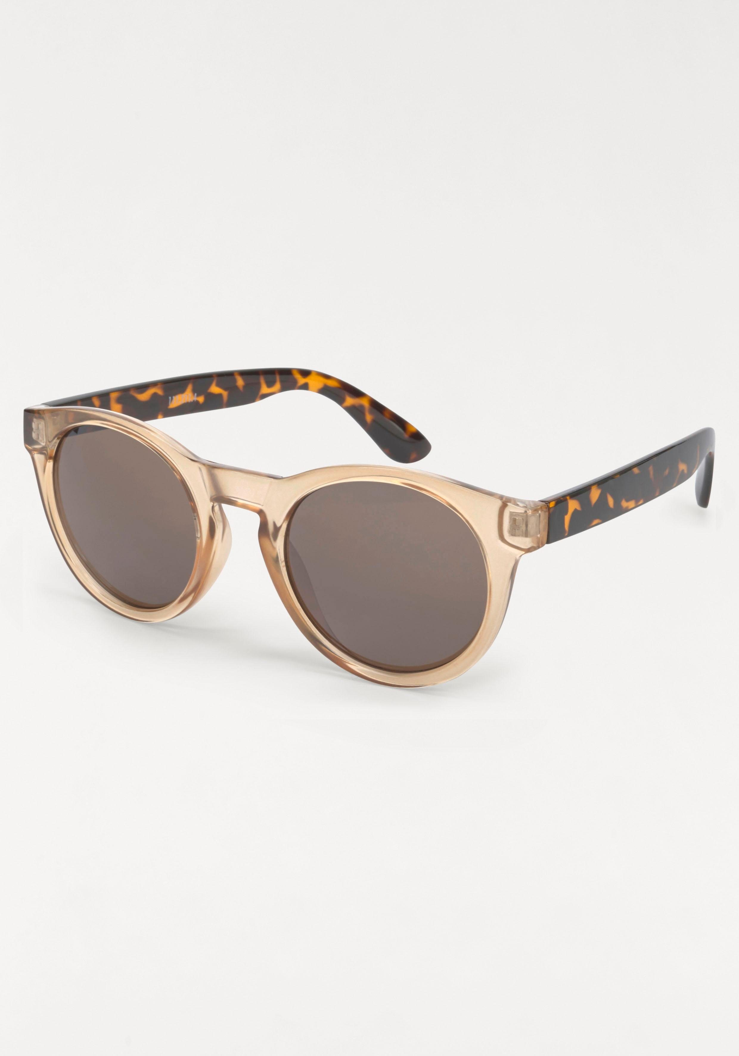 YOUNG SPIRIT LONDON Eyewear Sonnenbrille in Bicolor-Optik, Bügel Animal Print