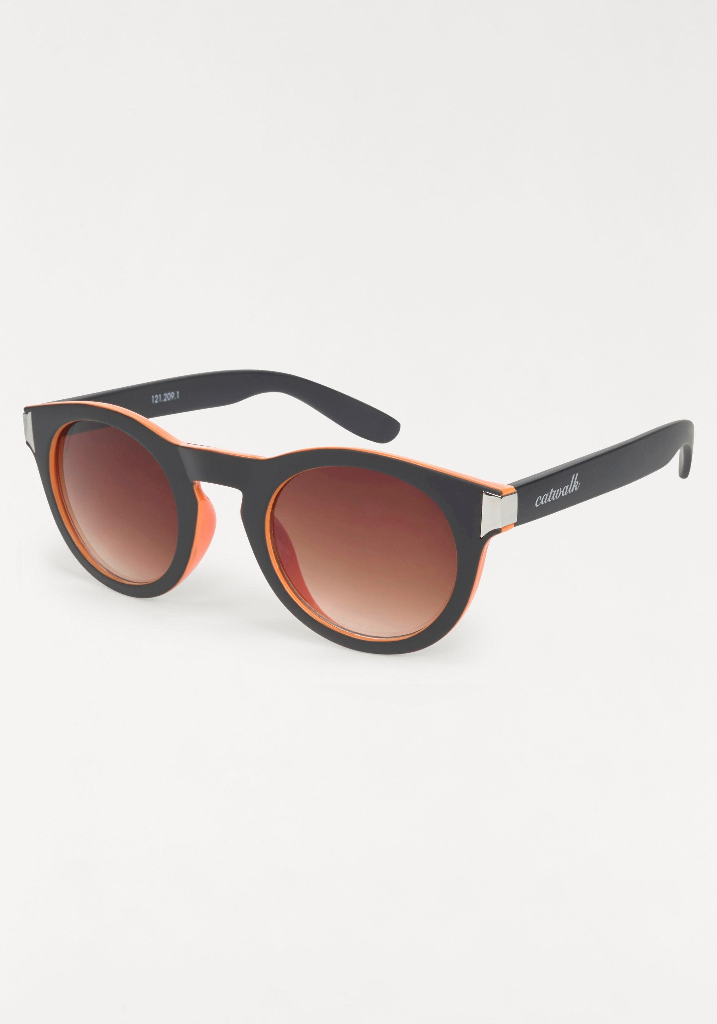 Heine Sonnenbrille mit Farbverlauif, braun