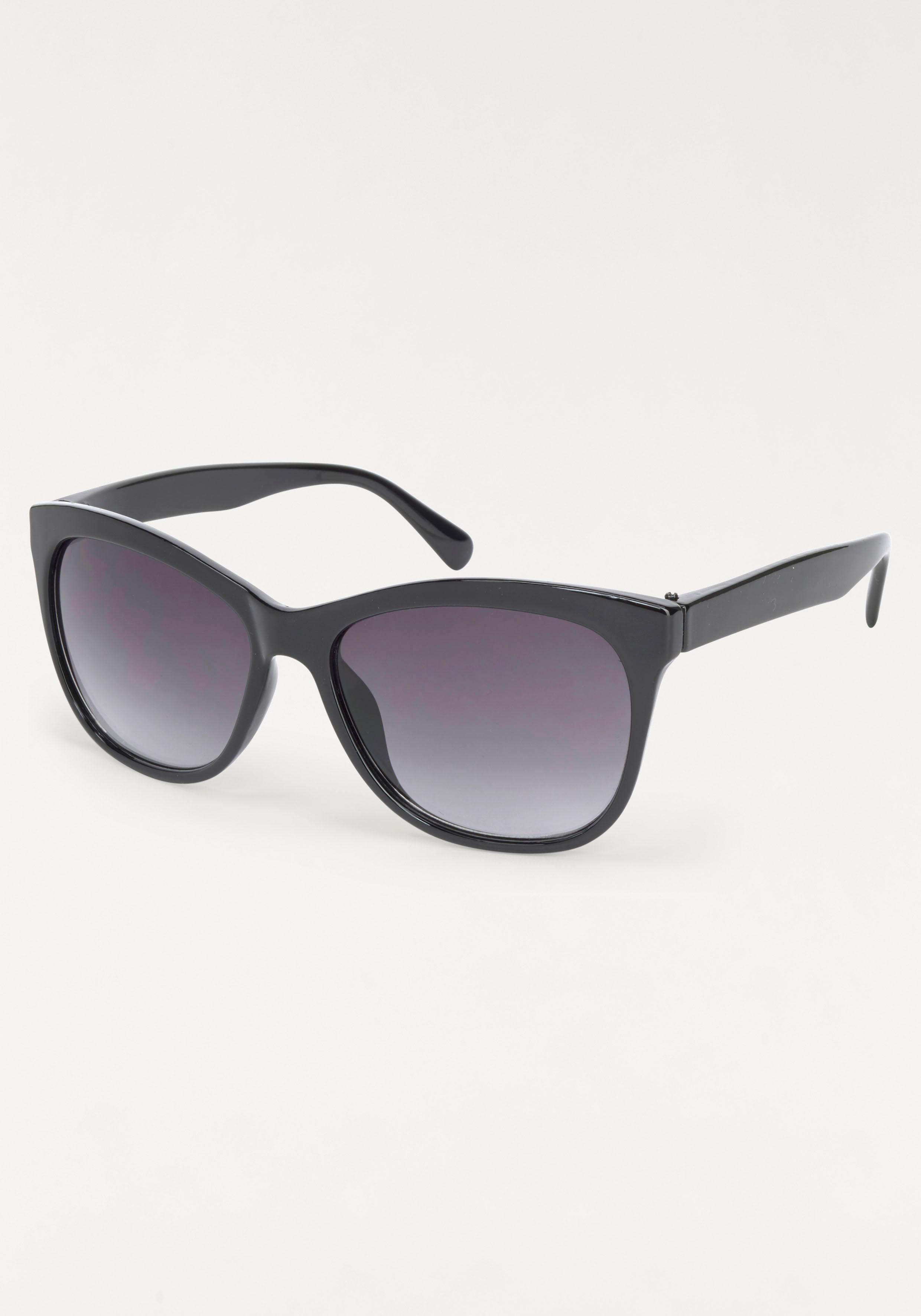 Sonnenbrille Retro Look, leichte Butterfly Optik