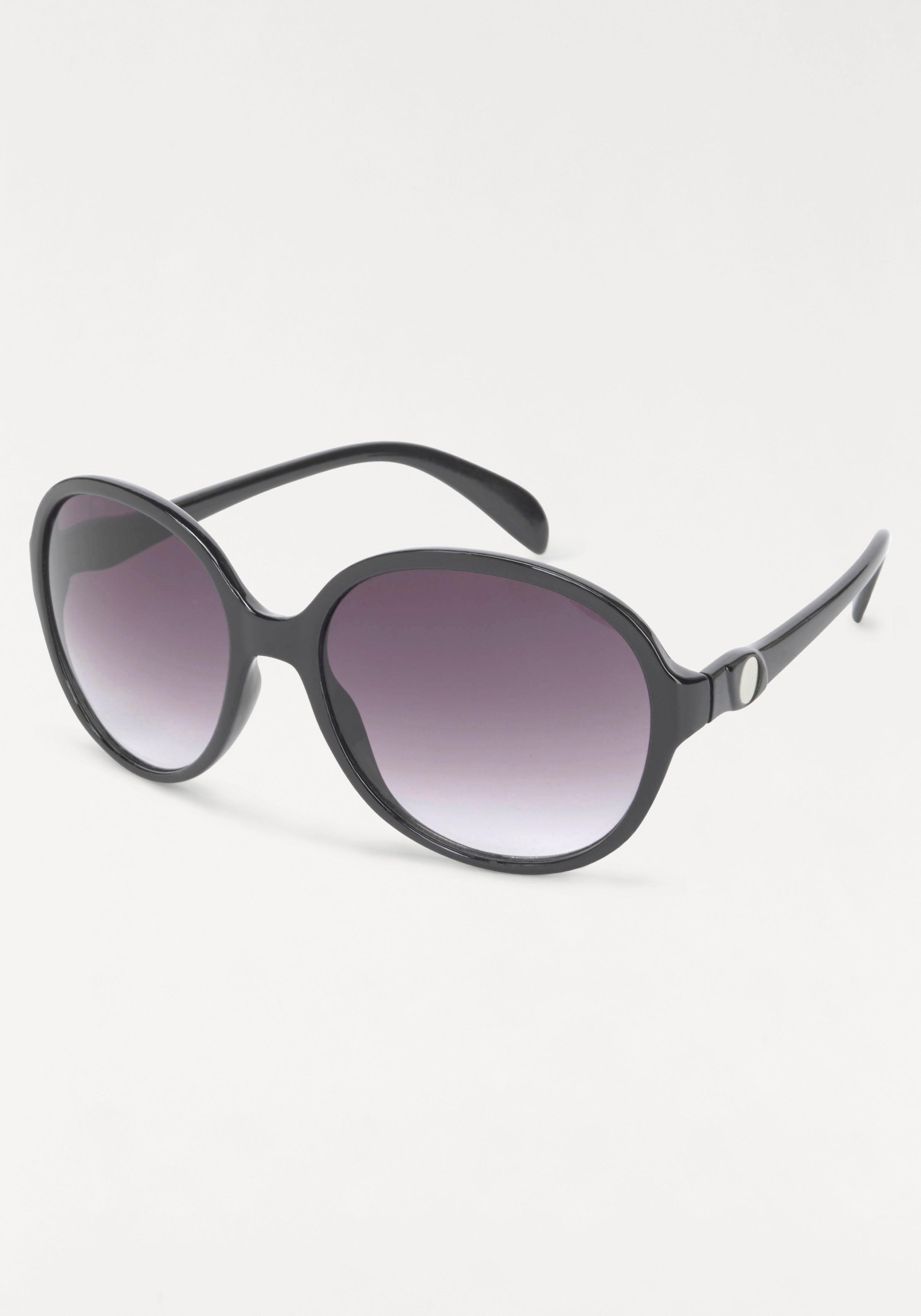Sonnenbrille mit großen Gläsern, Oversize, Boho Style