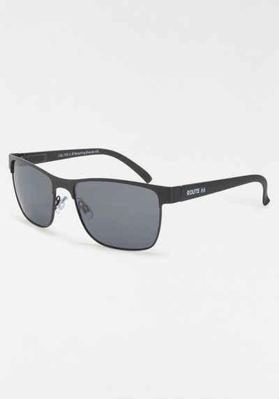 Sonnenbrille, mit Glitzersteinen am Rand, Oversize Look, schwarz, schwarz