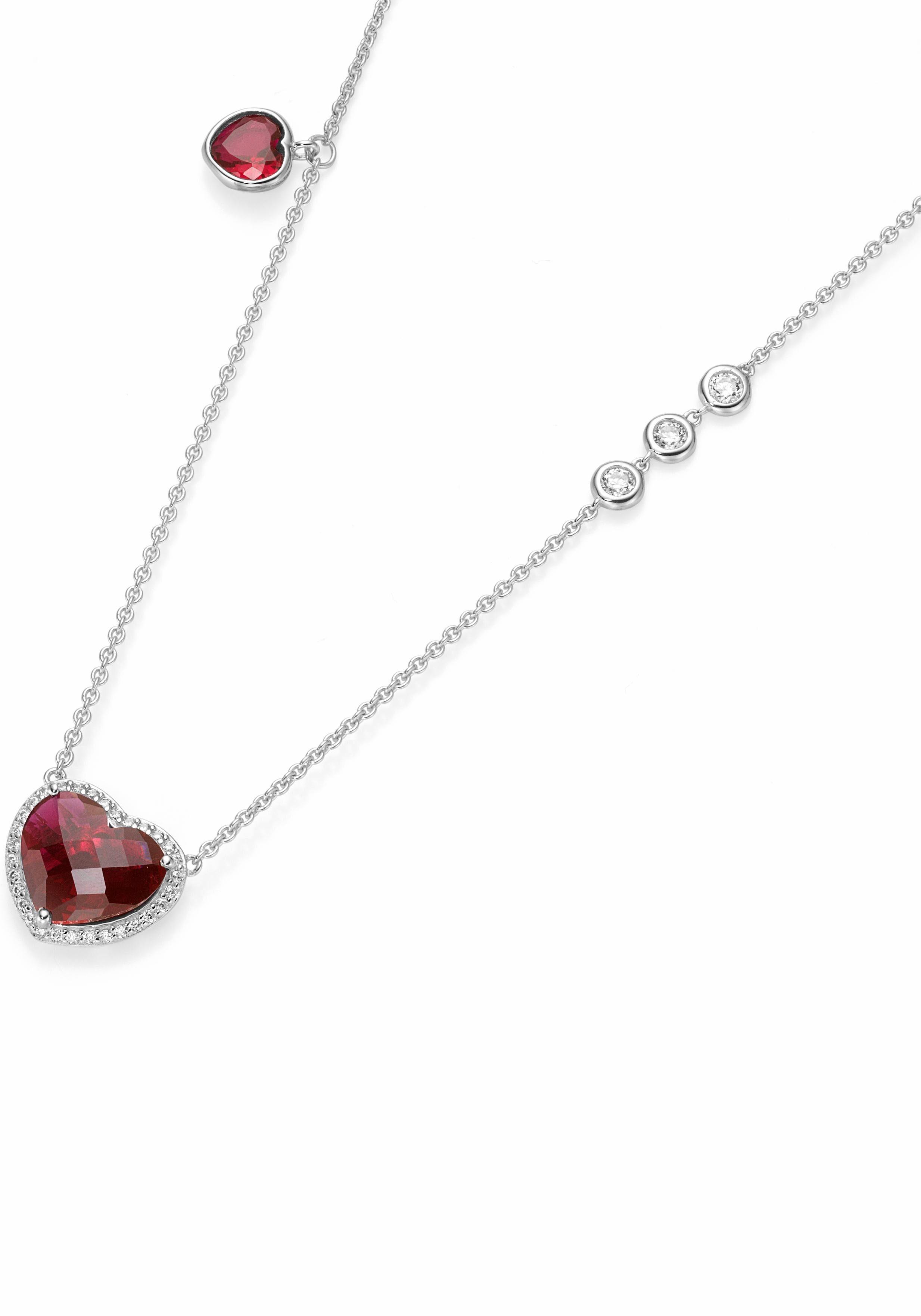 GIORGIO MARTELLO MILANO Herzkette »195170993450« mit Kristallsteinen und Zirkonia