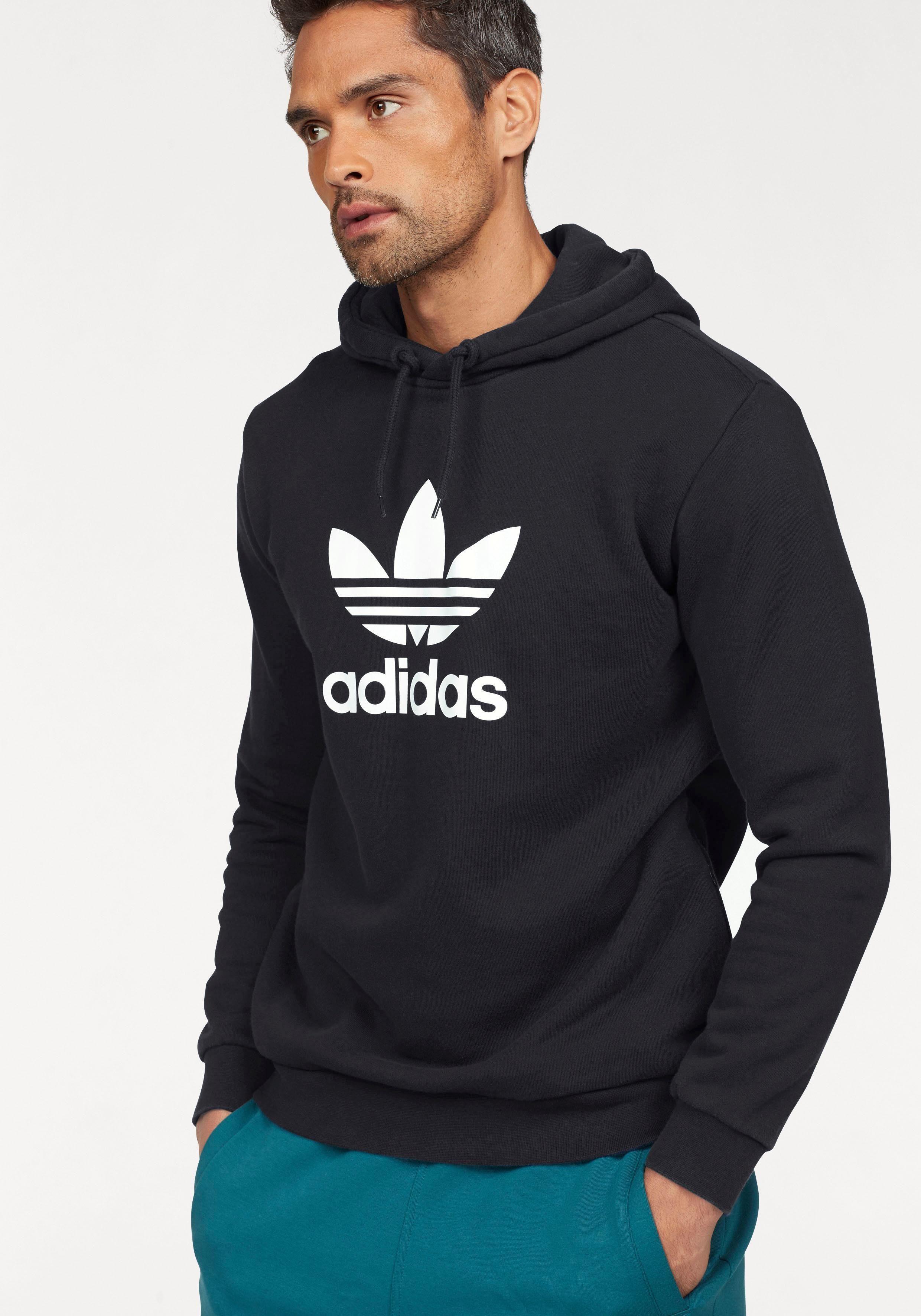 ADIDAS ORIGINAL TREFOIL Sweatshirt Hoodie Pullover Svchwarz