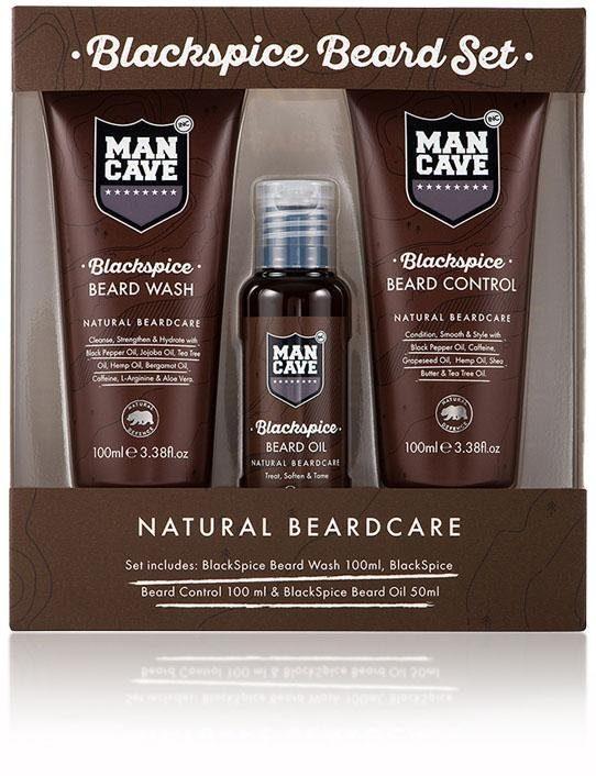 ManCave, »Blackspice Beard Set«, Bartpflegeset für Männer (3-tlg.)
