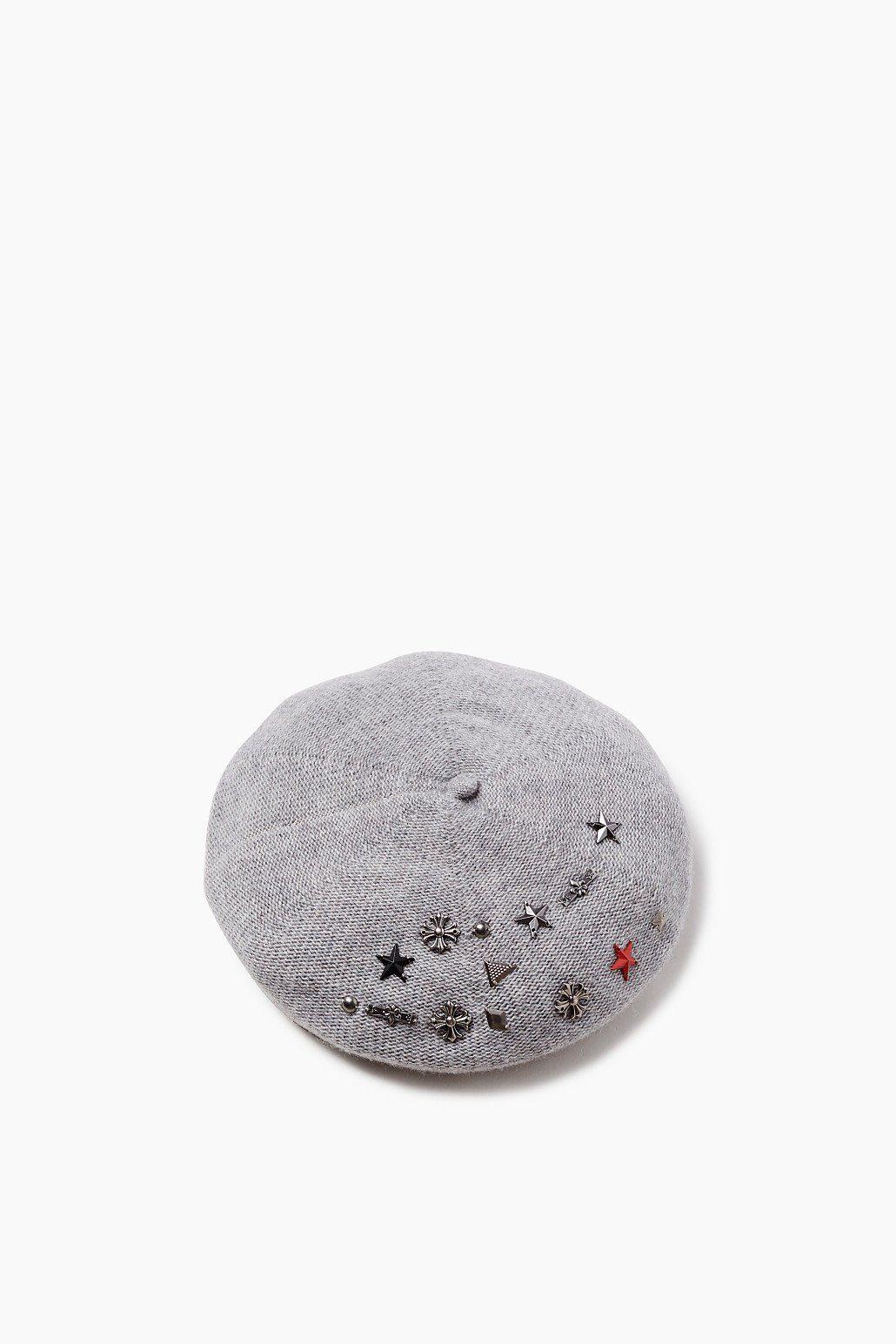 ESPRIT CASUAL Barett mit Nieten, aus Woll-Mix