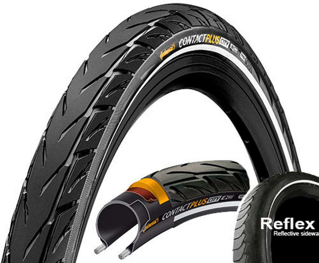 "CONTINENTAL Fahrradreifen »Contact Plus City E-50 27,5"" Draht Reflex«"