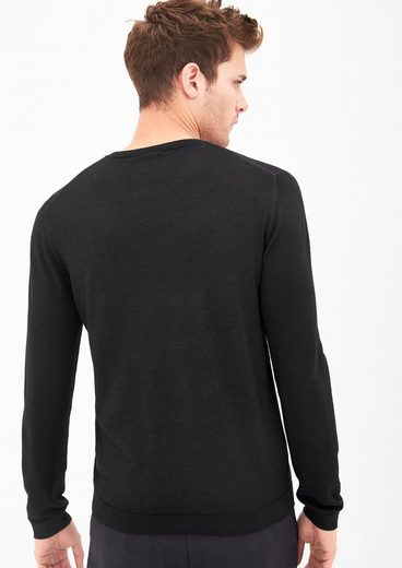 s.Oliver BLACK LABEL Merino-Wollpullover in Garment Dye